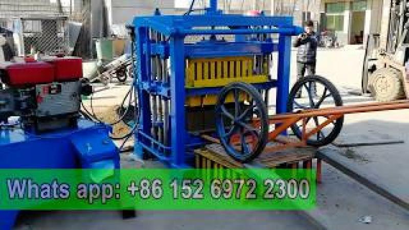 QT4-30 small diesel hydraulic paving brick hollow block making machine
