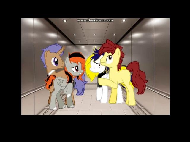 Страшные истории Нечто в шахте лифта Пони пародия