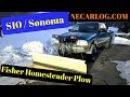 Fisher Homesteader Snow Plow on GMC Sonoma
