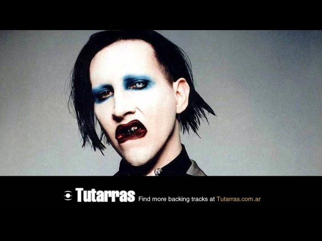 Marilyn Manson - the beautiful people [Guitar Backing tracks]