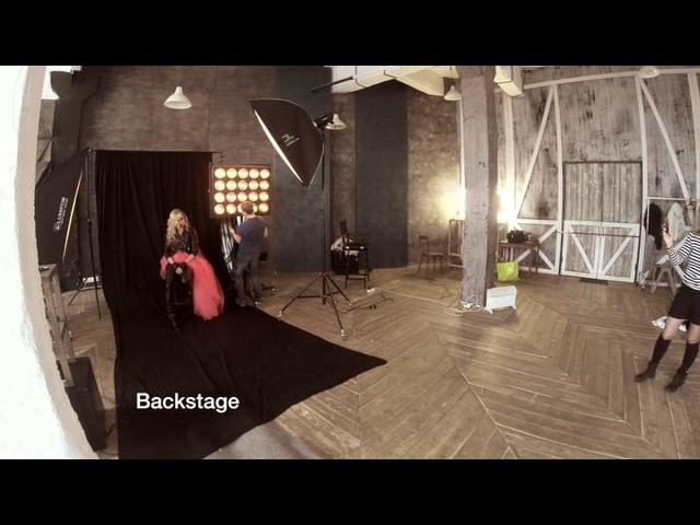 Bakcstage фотосета в стиле тяжёлый люкс и глубокий фэшн