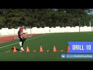 Football coaching video - soccer drill - ladder coordination (Brazil) 10