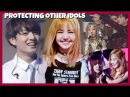 KPOP IDOLS : PROTECTING l HELPING AND SAVING OTHER IDOLS BTS EXO BLACKPINK TWICE GOT7 ETC
