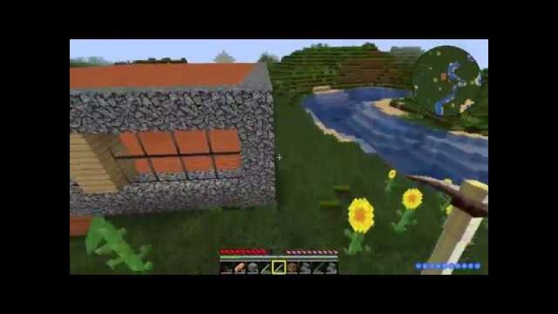 Evil adventure in Minecraft - 3 Постройка дома (часть 2)
