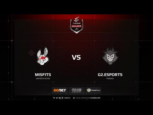 G2 vs Misfits @ de cbble