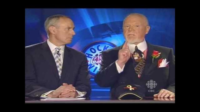 Don Cherry on Ovechkin's 50th Goal *Hot Stick* Celebration - Coach's Corner - March 21 2009