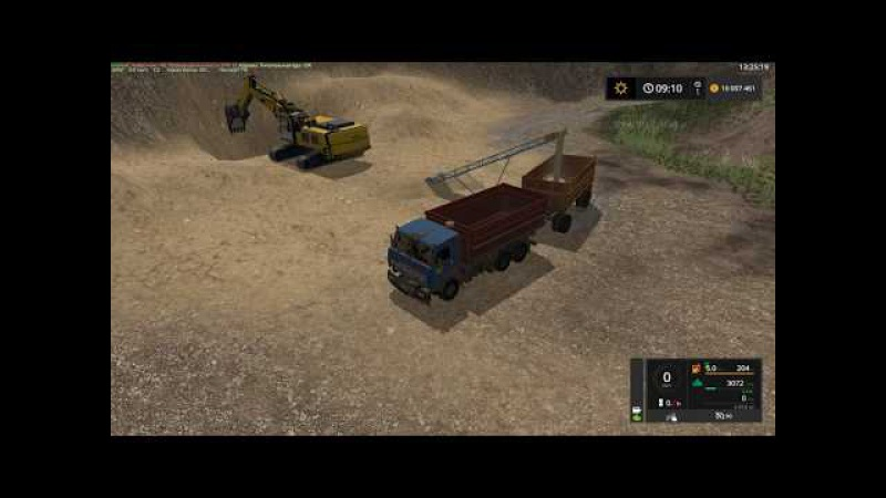 Мод грузовик Kamaz 55102 и прицеп GKB 8551 Фермер Симулятор 2017