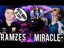 Miracle Back to Invoker vs Ramzes Dragon Knight Trashtalk TOP-7 vs TOP-5 - Dota 2