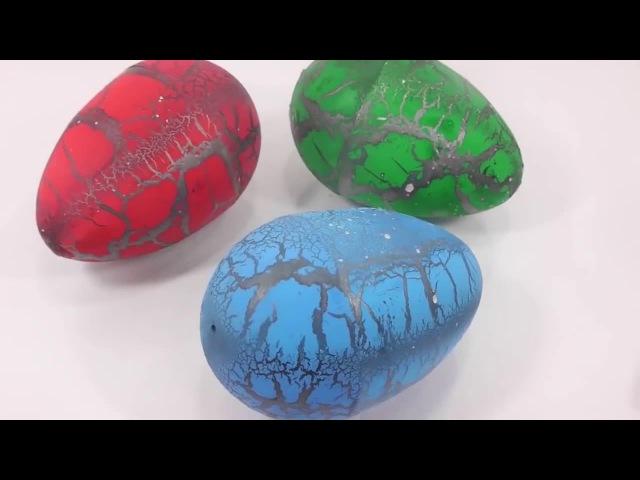 Яйцо Динозавра Растущее в воде Dinosaur Egg Learn Colors Slime Play Doh Icecream Surprise Egg Toys