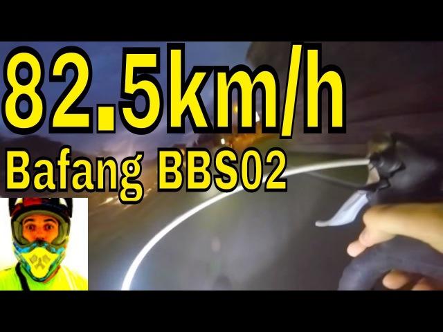 Hacked Bafang BBS02 82.5Kmh TOP SPEED • Electric Road Bike 1427.5watts (750w 48v) 8fun mid drive