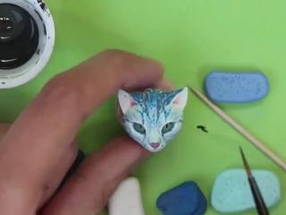 как слепить фигурку котика из глины