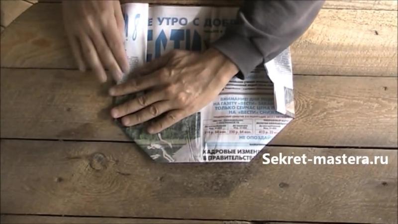Как Сделать Пилотку из Газеты Своими Руками - Оригами поделки из бумаги - Sekretmastera