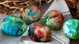 ПАСХАЛЬНЫЕ ЯЙЦА - ПРОСТО КОСМОС!!! Как покрасить яйца на Пасху? / Окраска яиц - Маниф ТВ