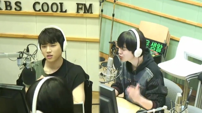 [01.05.18] KBS Kiss The Radio, эфир с Ухёном и Сонджоном