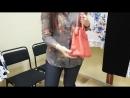Сиреневое боди, блузка, шарф Инга, сумочка Виалика