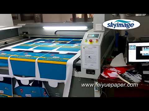 Auto Laser Cutting Machine for Sublimated Sportswear with Tacky Sublimation Paper