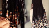 Unboxing+TUTORIAL ON BEADING TWISTSBRAIDS HOW I GOT THE 70's LOOK!