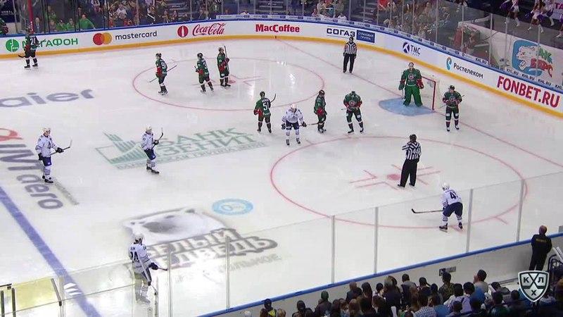Моменты из матчей КХЛ сезона 1718 • Удаление. Ландер Антон (Ак Барс) за подножку 26.08
