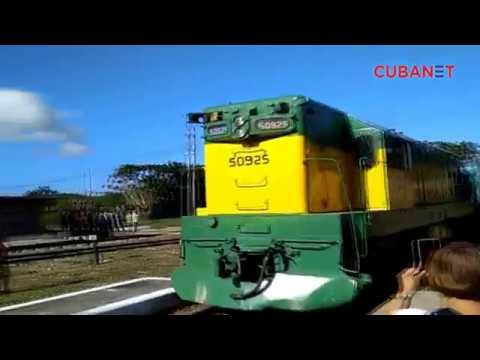 Celebran el 180 aniversario de la llegada del ferrocarril a Cuba.