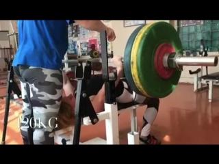Наталья Самарина, жим лёжа 120 кг на 3 раза