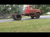 1970 Chevrolet C60 with big block doing burn out
