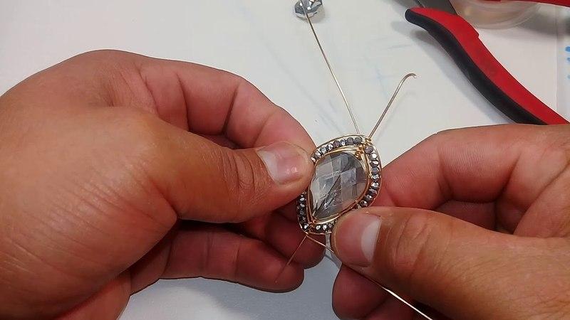 Arete de gota plana y octagones en alambrismo facil y rapido