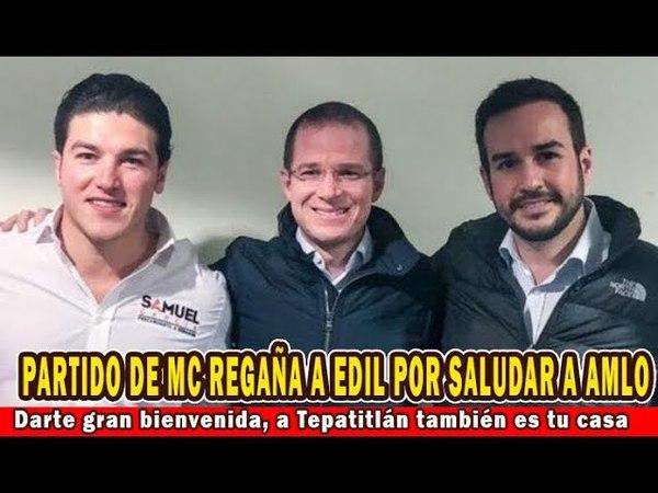 Tras dar bienvenida a AMLO en Jalisco, edil recibe reprimenda por MC