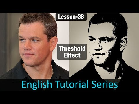 Threshold Effect in Photoshop (Lesson 38)