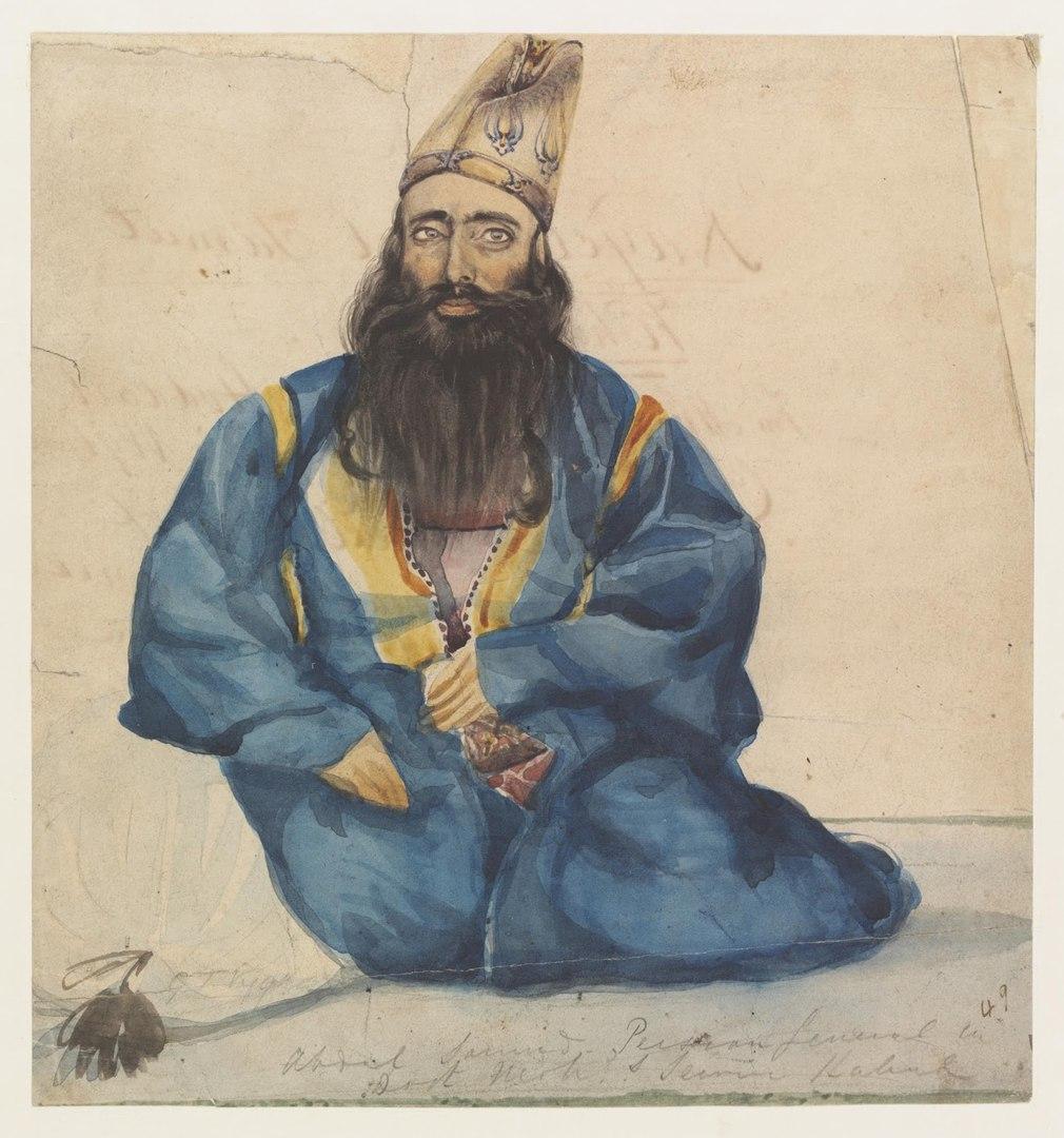 Основатель регулярных войск Бухарского эмирата Абдул Самад-хан из Тебриза (Галкин-Враской М.Н., 1868)