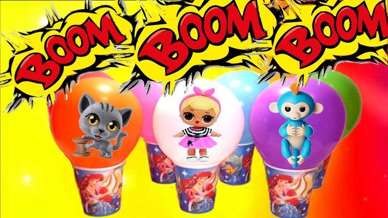 лопаем шарики с сюрпризами, воздушное мороженко с сюрпризом