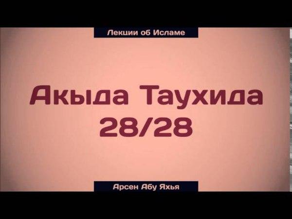 Акыда Таухида 28/28    Абу Яхья Крымский
