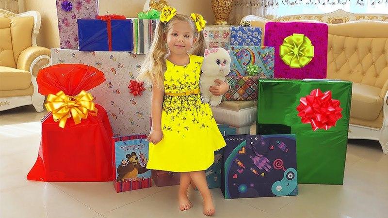 ПОДАРКИ Дианы на День Рождения! Огромный Дом Барби, новая Беби Бон, золотая кнопка YouTube