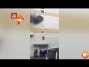 Жантүршігерлік өрттен қашып терезеден секіргендер видеоға түсіп қалған 2