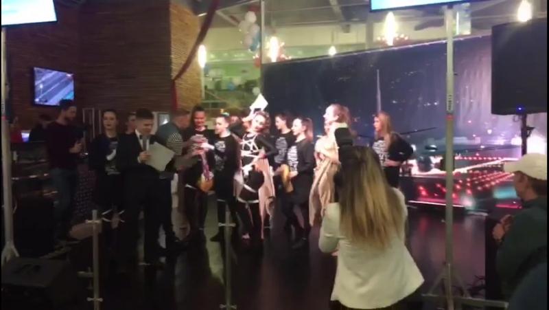 Награждение победителей Открытого танцевального турнира Fintess Holding в Москве