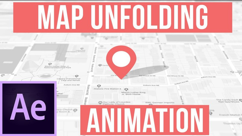How To Create An Unfolding Map Animation - After Effects Motion Graphics Tutorial