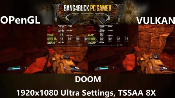 Сравнение - OpenGL vs Vulkan: Doom - Ультра настройки графики | R9 280X | i7 5960X 4.4GHz
