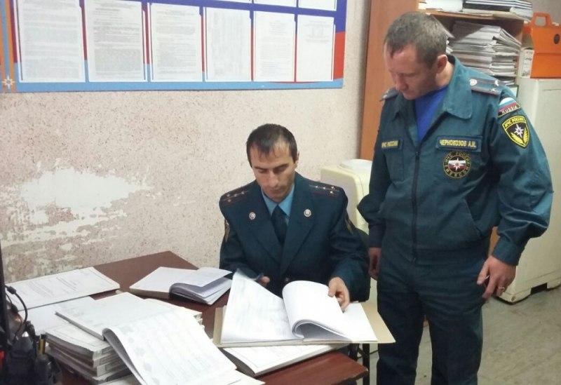В Зеленчукском районе прошла проверка отделения надзорной деятельности МЧС