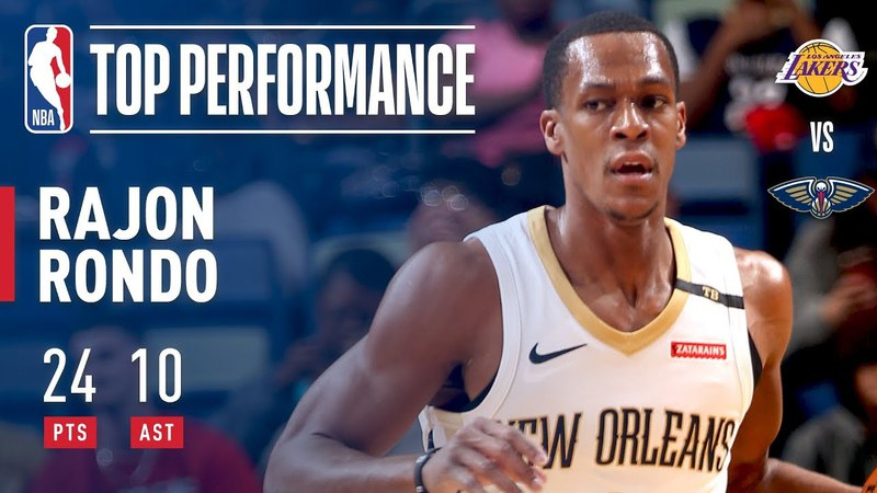 Rajon Rondo Scores Double-Double | 24 Points and 10 Assists NBANews NBA Pelicans