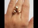 Кольцо Три Шарика из золота