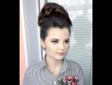 Ксения Саватеева. Свадебный образ для Марины. Яркий макияж и высокий пучок