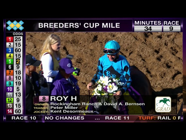 Roy H Wins TwinSpires Breeders Cup Sprint Grade I Stakes Race 8 at Del Mar 110417