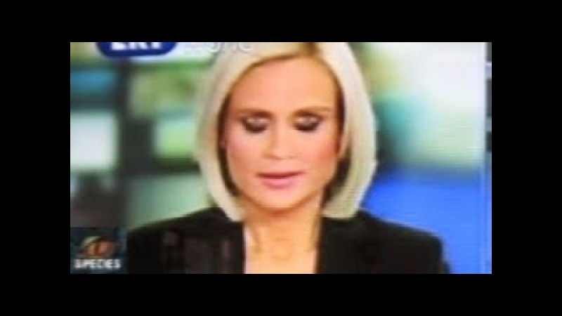 Creepy News Reporter REPTILIAN EYES Hologram Failure Caught On Tape - Must See