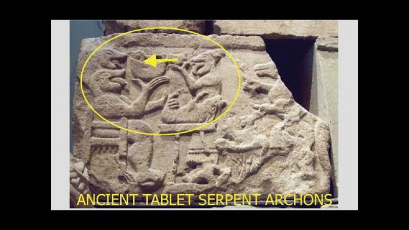 Ancient Carving Uncovered - Giant Serpent Beings Eating Humans - Predates Bible