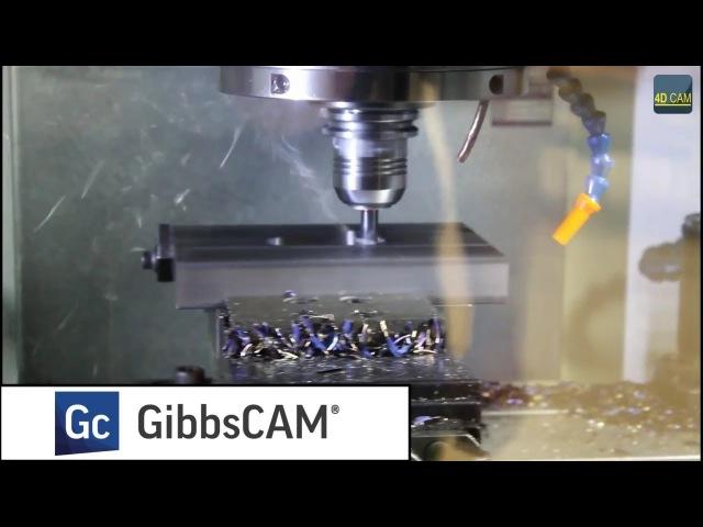GibbsCAM. Пример использования VoluMill (высокопроизводительная обработка)