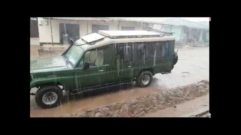 Ураган начинается Африка Танзания озеро Виктория остров Ukerewe