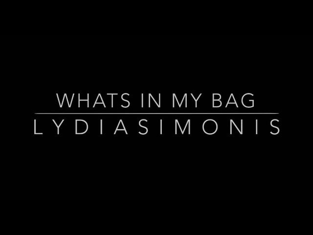 WHATS IN MY BAG - LYDIA SIMONIS MISS COOK ISLANDS