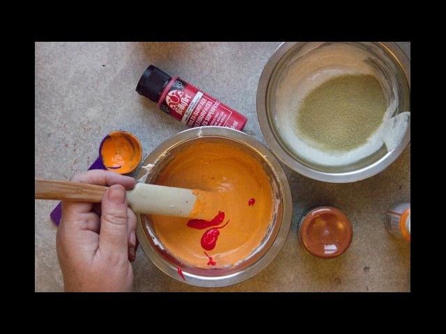Полимерная паста с эффектом ржавчины, своими руками