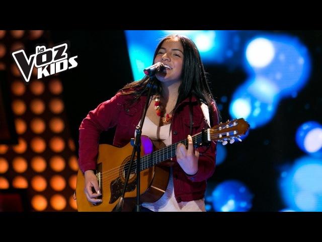 Laura Mazo canta Besándote - Audiciones a ciegas | La Voz Kids Colombia 2018