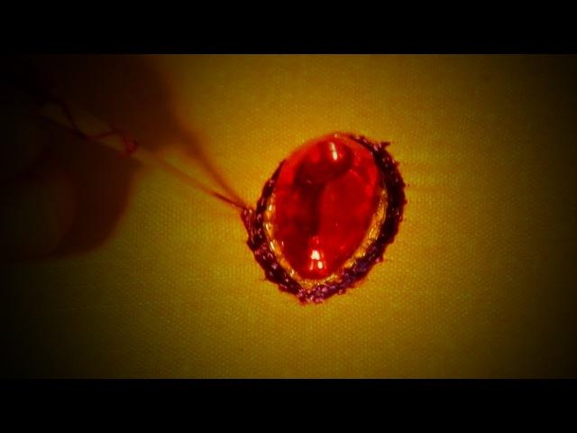 Aari Work for Beginners - Kundan Work using Basic Chain Stitch
