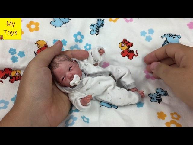 Кукла из полимерной глины мини реборн OOak baby doll
